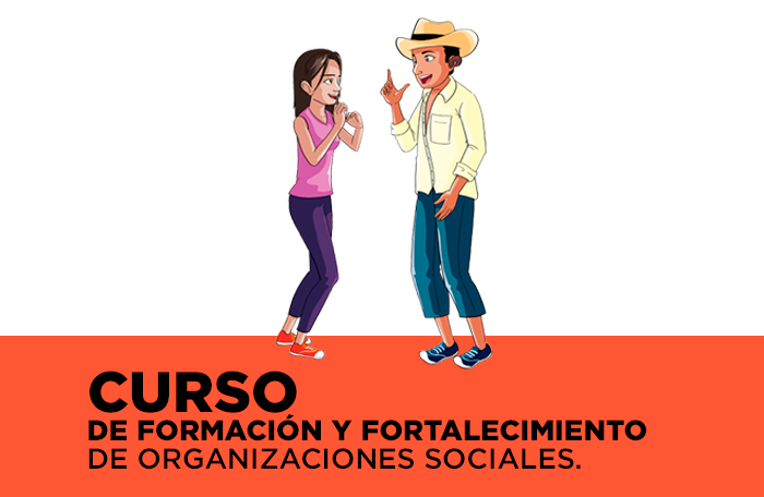 CURSO DE FORMACIÓN Y FORTALECIMIENTO DE ORGANIZACIONES SOCIALES - ir al curso